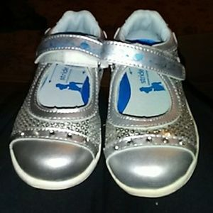 Stride Rite girls Silver Shoes